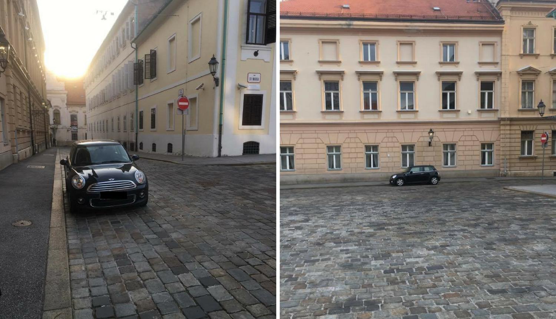 Parking iz snova: Ona svog Minija parkira na Markov trg