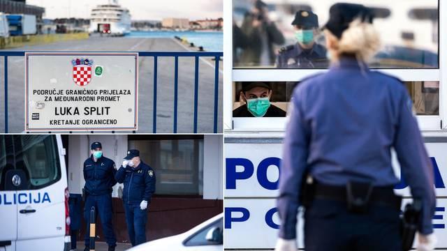Video: U Split stigao trajekt iz Ancone, pregledali sve putnike