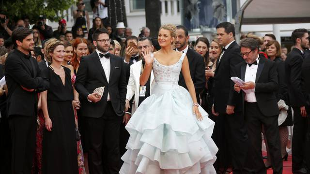 "Actress Blake Lively arrives for the screening of the film ""Ma loute"" in competition at the 69th Cannes Film Festival in Cannes"