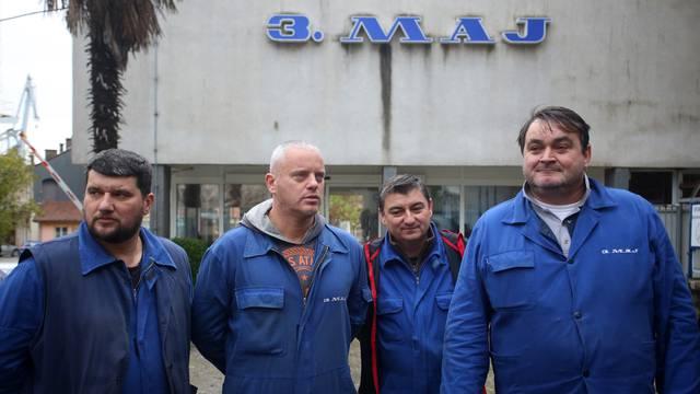 Rijeka: Konferencija za medije sindikalaca 3. Maja koji nastavljaju sa Å¡trajkom