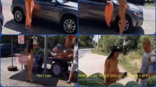 Prišla mu gola i kupila lubenicu: Dajte da vam je odnesem u auto, da ne teglite još jednu!