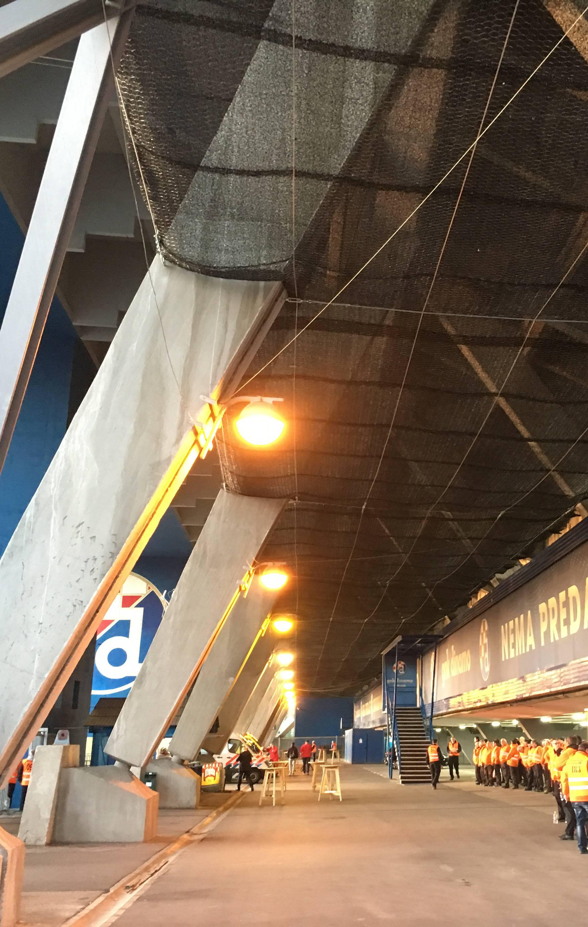 Dinamo: Betonski blok je pao, mrežom želimo zaštititi ljude