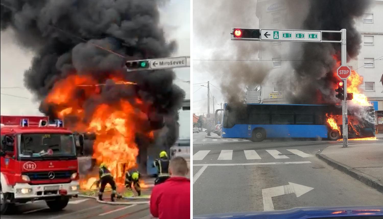 Detalji požara ZET-ovog busa: Zapalio se motor i curilo gorivo