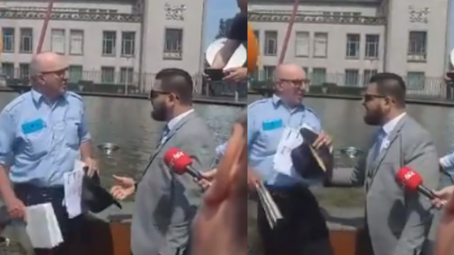 VIDEO Muškarac transparentom u Haagu daje podršku Ratku Mladiću: 'Ovo je sud nepravde'