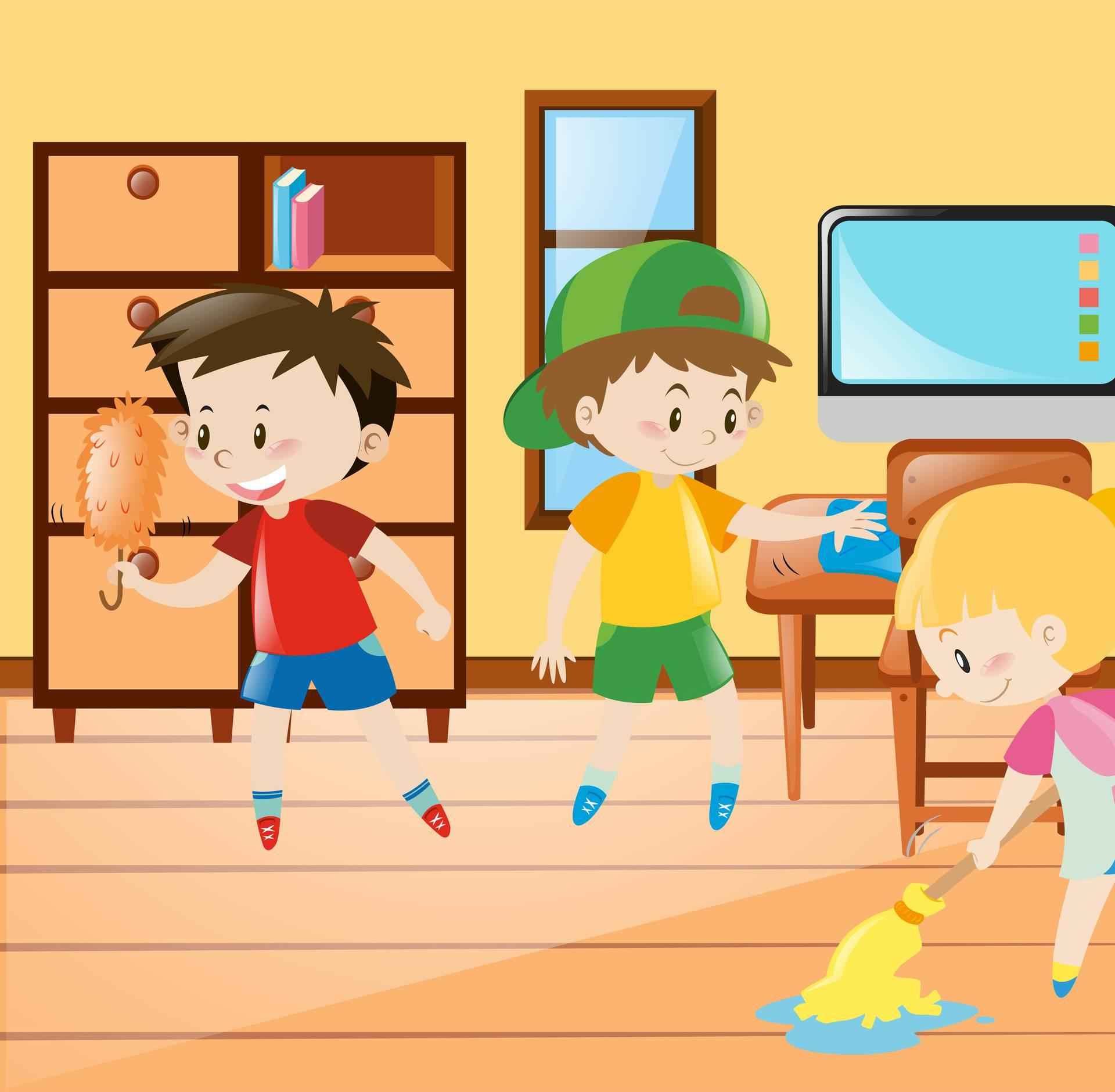 Djeca koja pomažu u kući su uspješnija: Nikad nije prerano...