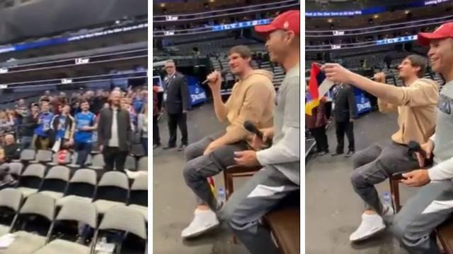 Marjanović zapjevao Šabanov hit i oduševio navijače Dallasa!