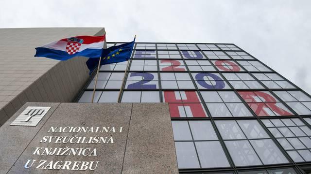 Zagreb: EU2020 na pročelju Nacionalne i sveučilišne knjižnice