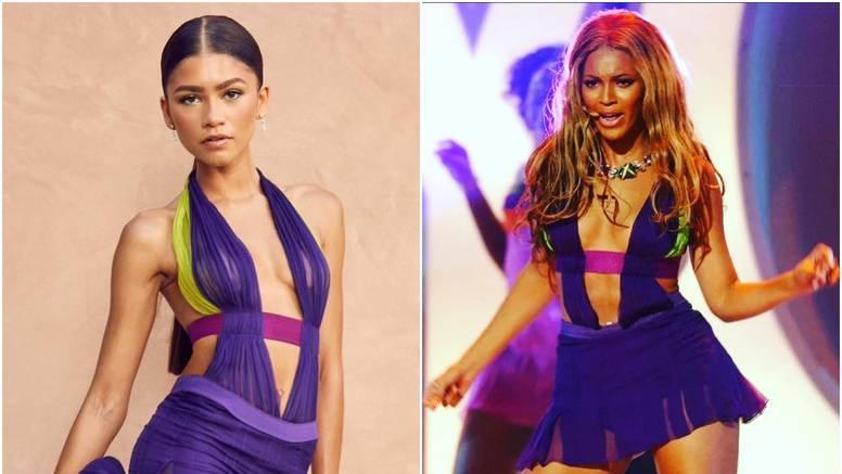 Zendaya odala počast Beyoncé u fantastičnoj Versace haljini, 18 godina nakon njezinog nastupa
