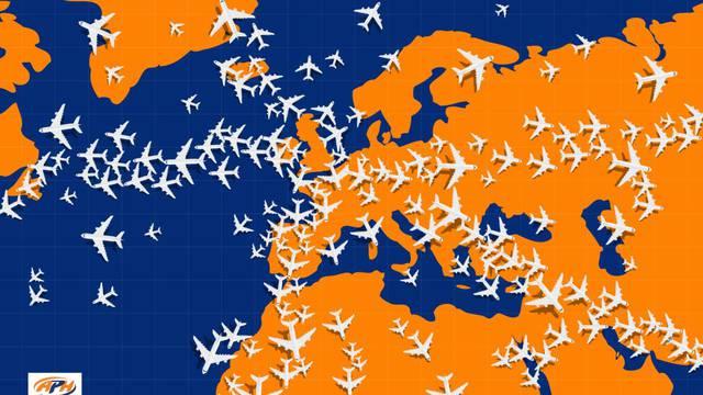 Mozgalica: Pronađite avion koji jedini leti u suprotnom smjeru