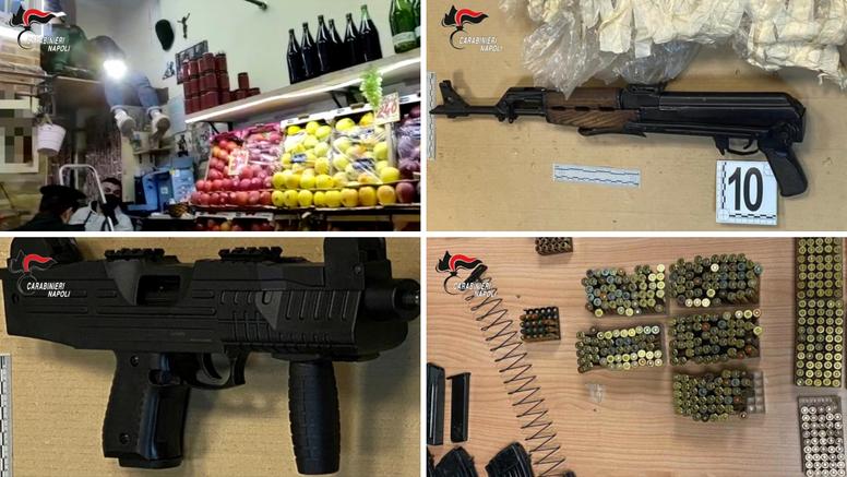 U voćarni u Napulju policija među jabukama našla pištolje, kalašnjikove, strojnice, drogu...