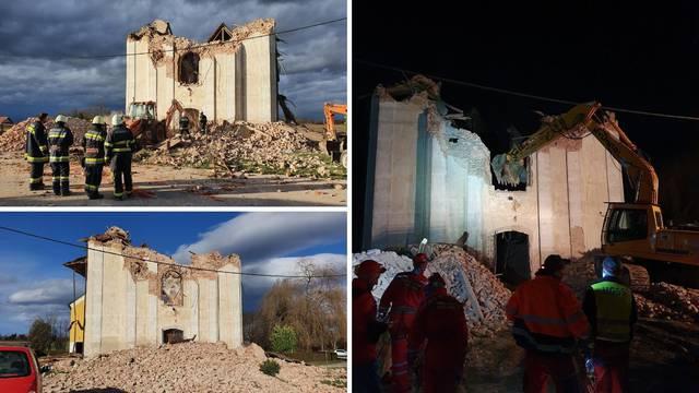 Potpuno se srušila crkva u Žažini: Župljani su je čistili kad je zatreslo, poginuo je orguljaš