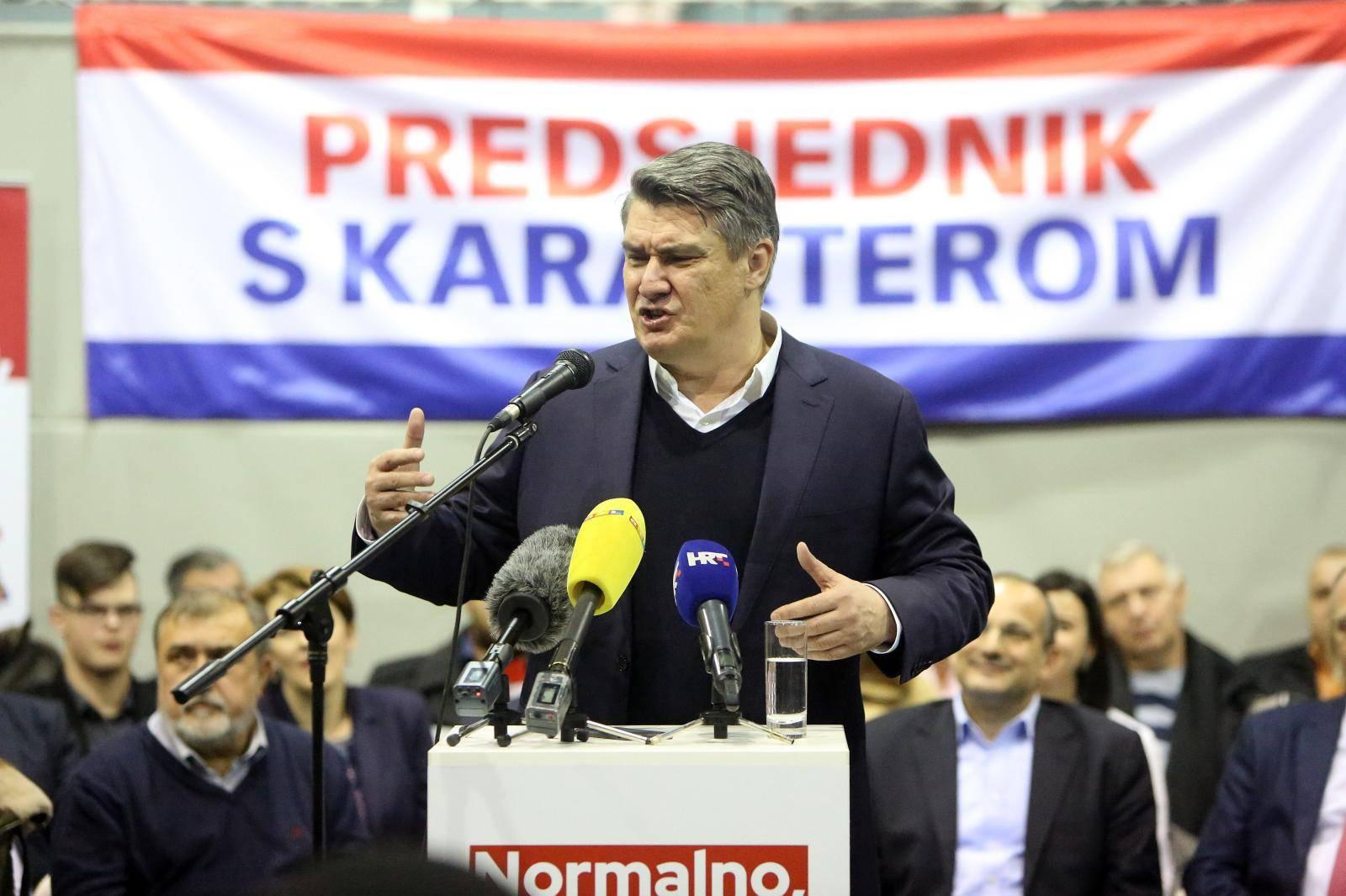 Predizborni skup kandidata Zorana Milanovića u Ogulinu