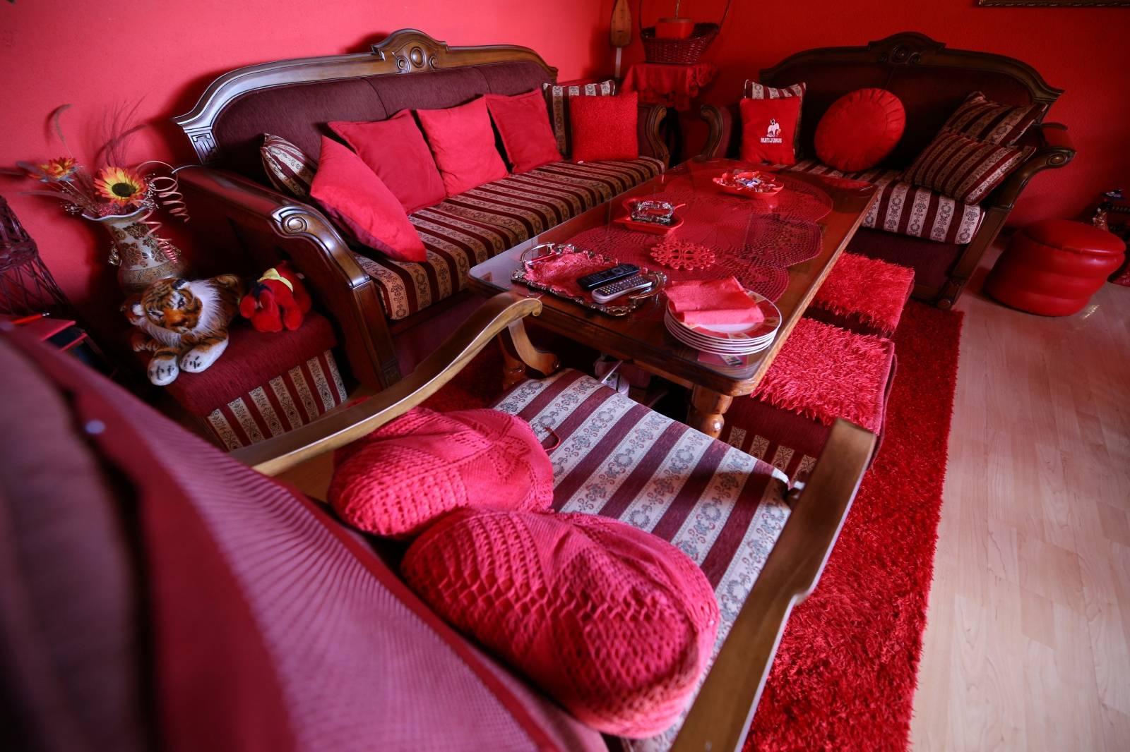 Zorica Rebernik's sitting room is seen in her house in the village of Breze near Tuzla