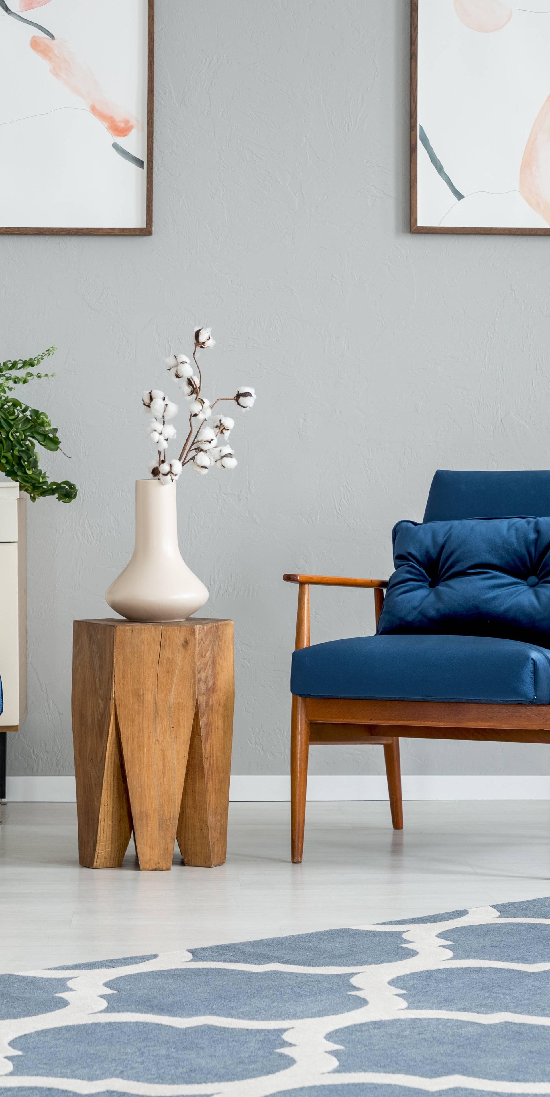 Plava boja može biti idealna za spavaću sobu i dnevni boravak
