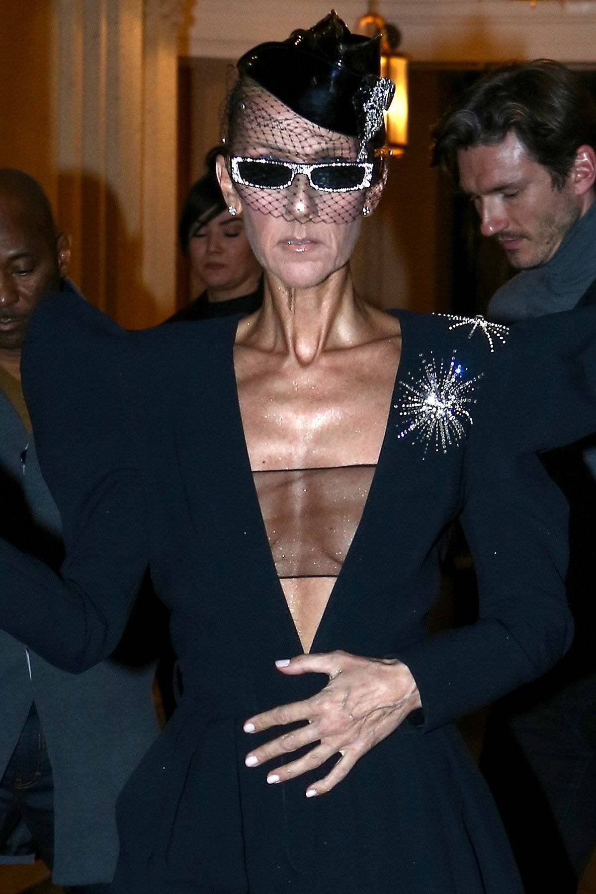 Celine Dion and Pepe Munoz out in Paris