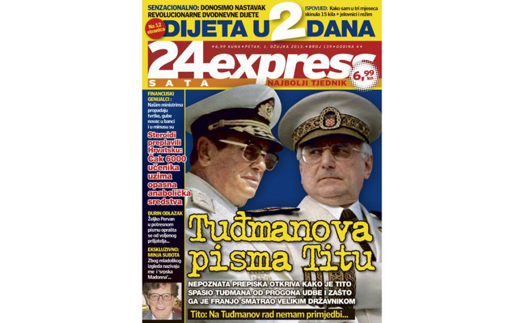 U novom broju 24sataExpressa: Tuđmanova pisma Titu!