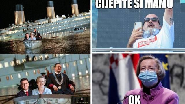 FOTO Reakcije na Markotić i povlašteni redoslijed cijepljenja