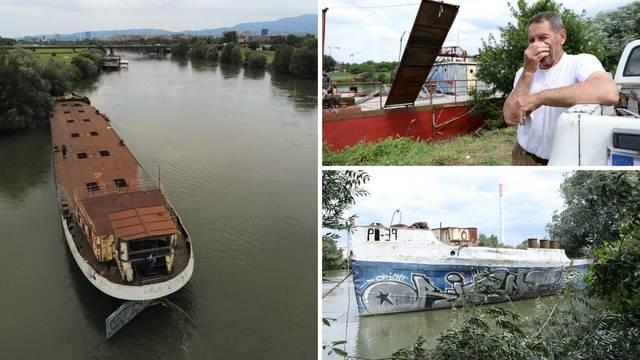 Još jedan brod se nasukao na Savi: 'Izbjegli smo katastrofu, te su  teglenice teške 300 tona'