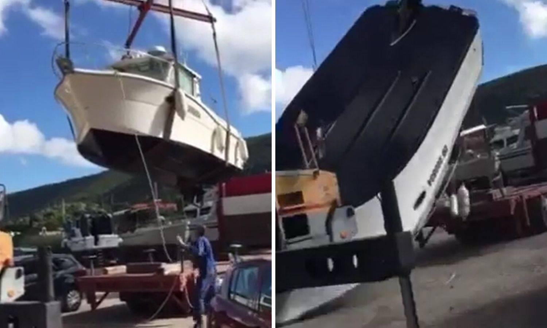 Titanic na suhom: Premještali brod pa im pao s dizalice