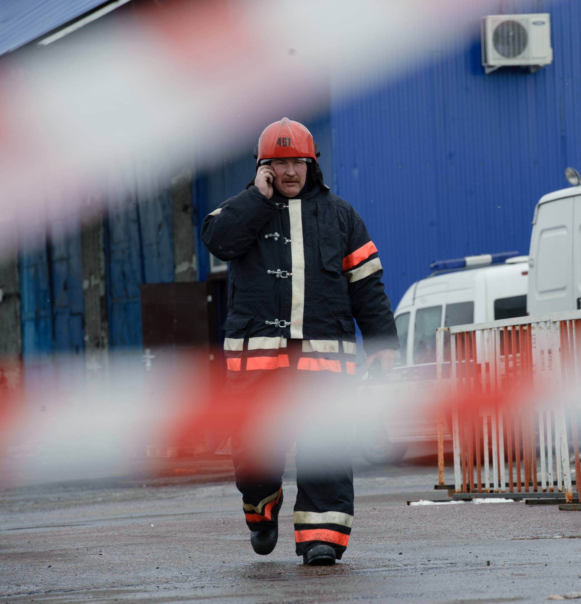 RUSSIA-MOSCOW-MARKET FIRE