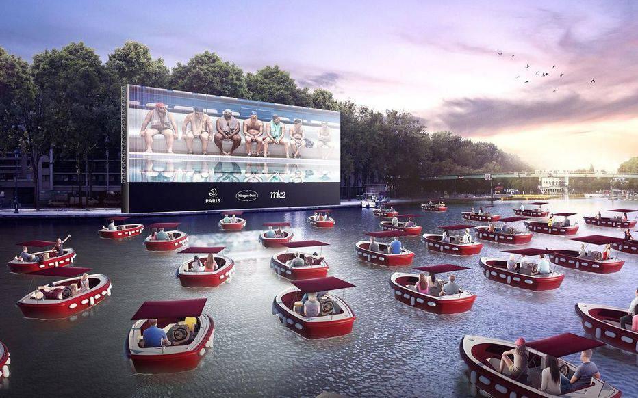 Novi hit: Plutajuće kino s čamcima na vodi dolazi u Pariz!