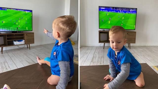 Mali navijač: Šimun iz daleke Amerike pratio Dinamov meč