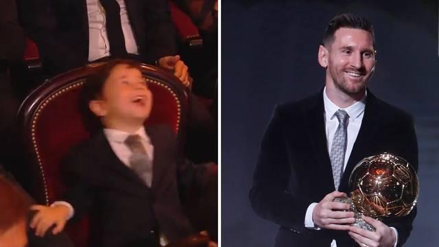 Urnebesni Messijev sin opet je ukrao šou! 'Da, da, to je tata...'