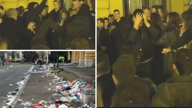 VIDEO Masovna tučnjava u noći kod HNK: 'Mlatili su se 10 na 10'