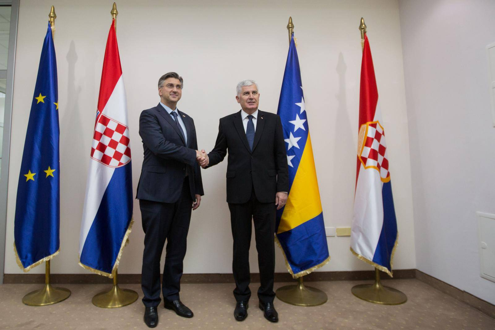 Mostar: Sastanak Dragana Čovića i Andreja Plenkovića