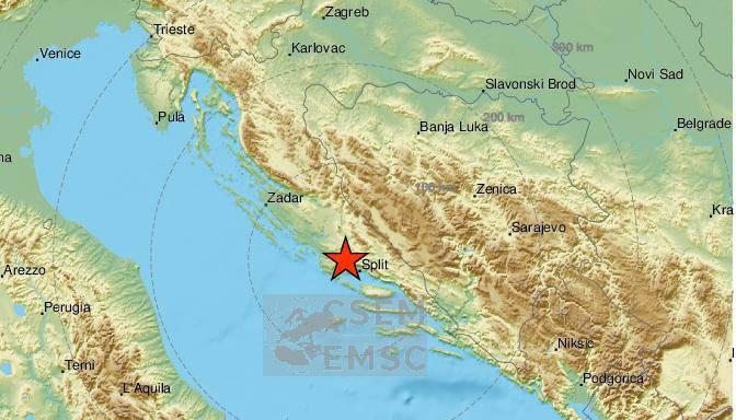 Potres od 2,4 Richtera pogodio Dalmaciju, epicentar kod Splita