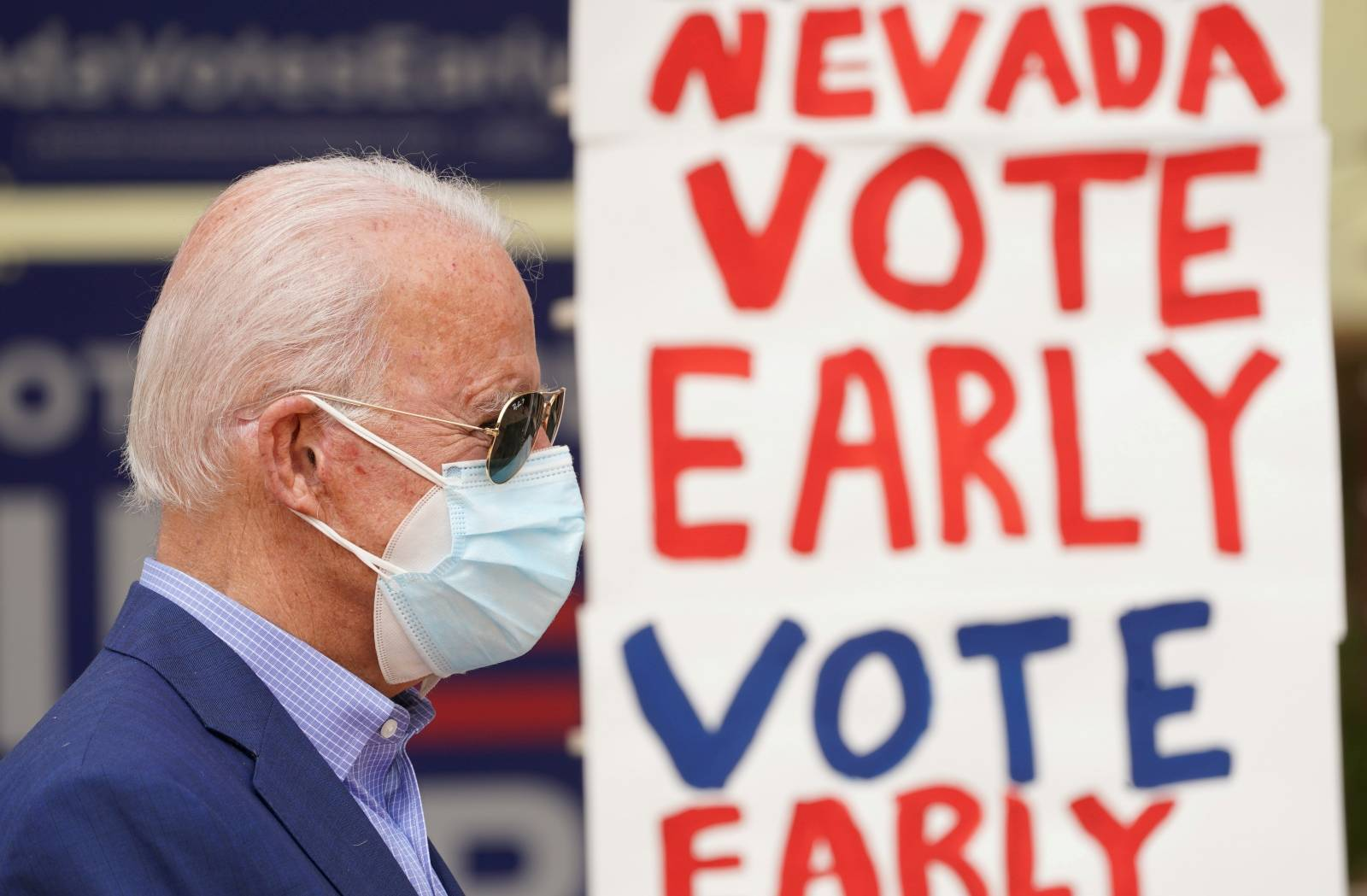 Democratic U.S. presidential nominee Biden campaigns in Las Vegas, Nevada