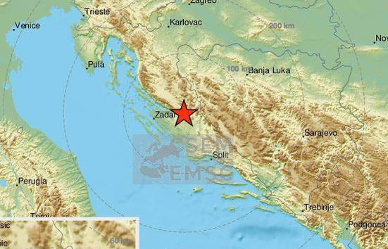 Potres jačine 4,2 pokraj Zadra: 'Čula se jaka tutnjava i dobro nas je zatreslo, stan je vibrirao'