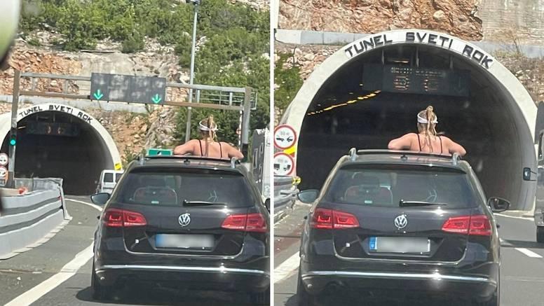 Njemica kod Sv. Roka izašla kroz krovni prozor auta i tako se vozila po autocesti i kroz tunel