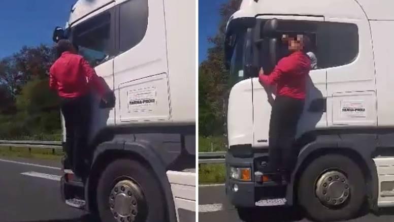 Slušaj vamo! Vozio se na A1 na kamionu i vozaču držao lekciju