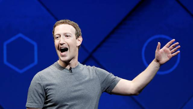 Facebook Founder and CEO Mark Zuckerberg speaks on stage during the annual Facebook F8 developers conference in San Jose