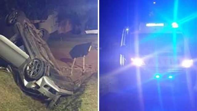 Auto sletio s ceste i prevrnuo se u Đakovačkim Selcima