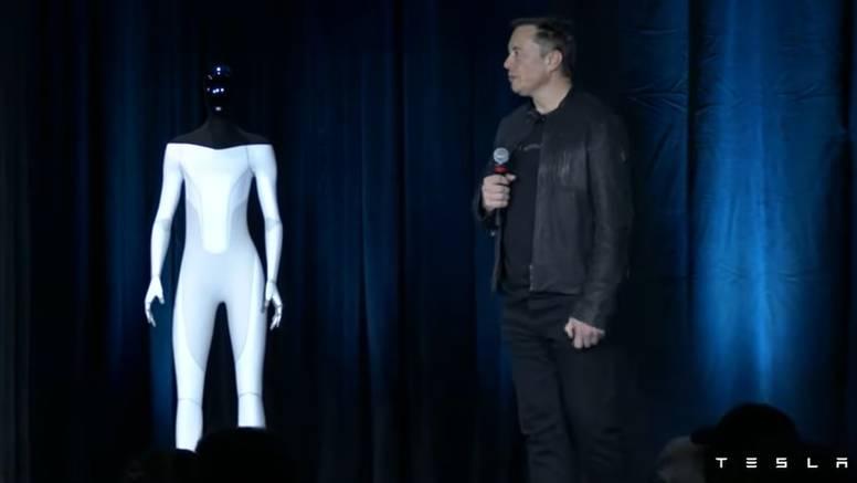 Musk najavio Teslinog robota: 'Preuzet će fizički rad koji će u budućnosti biti izbor'