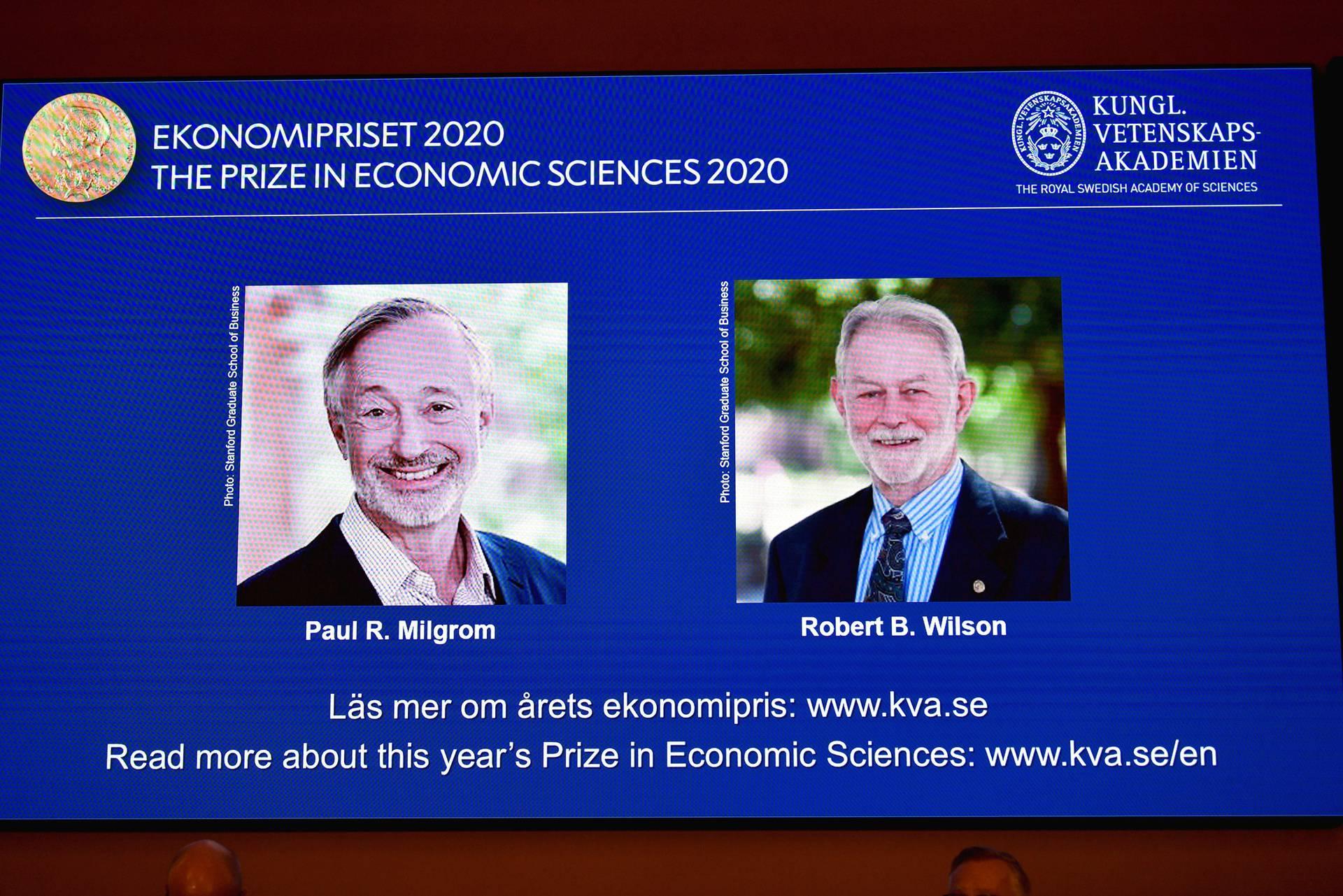 Milgrom i Wilson dobitnici su Nobelove nagrade za ekonomiju