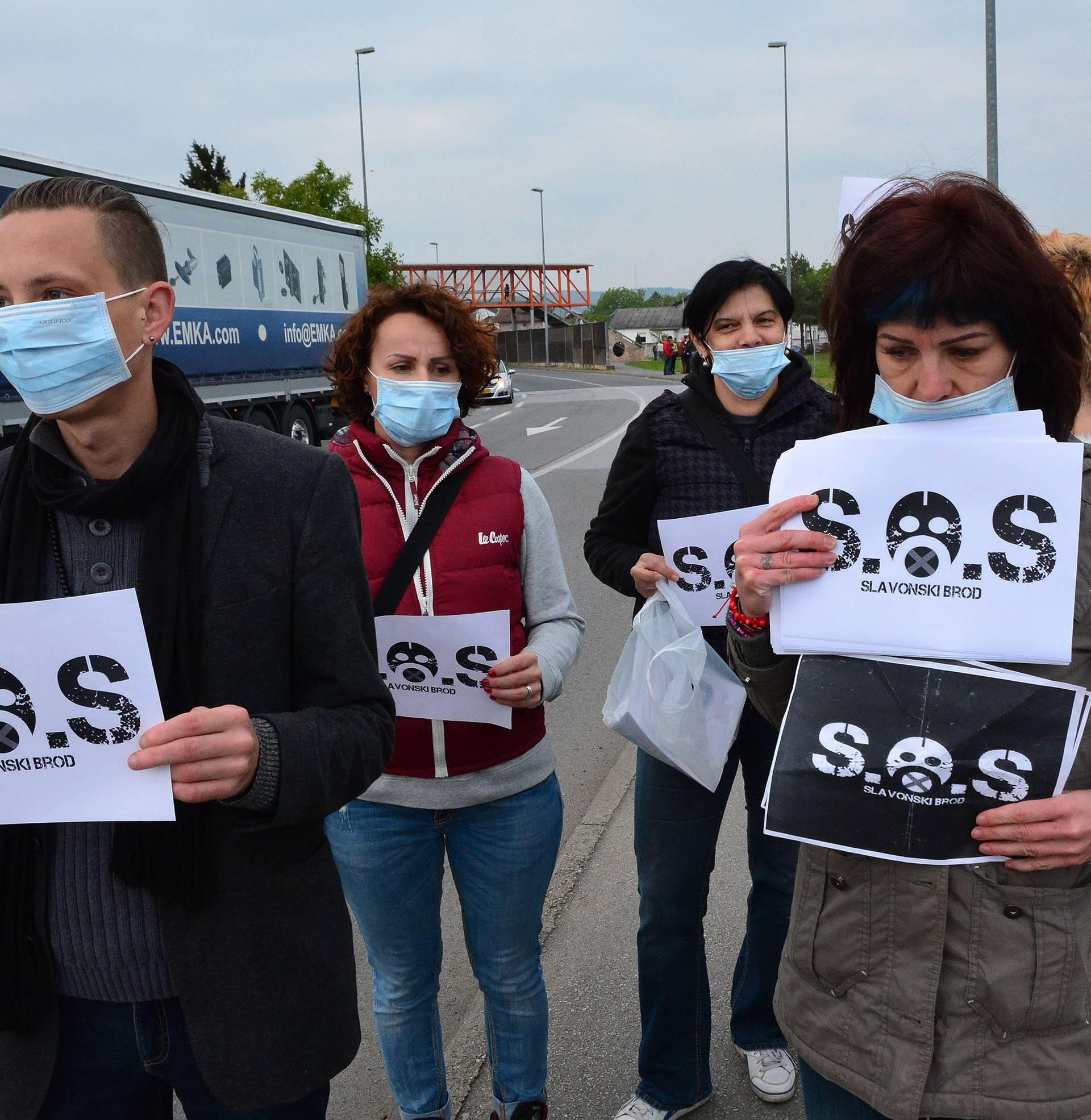 Obustavili su promet: Prosvjed protiv zagađenja zraka u Brodu