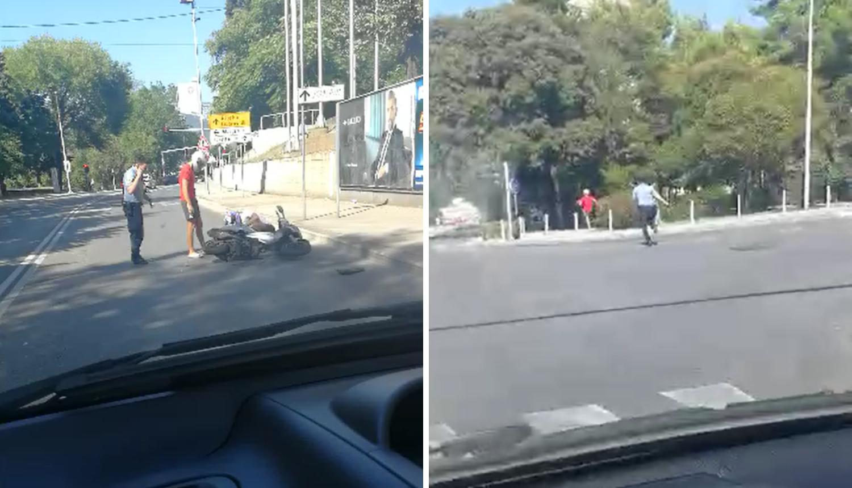 Naletjeli motorom na policajca i ozlijedili ga pa se dali u bijeg