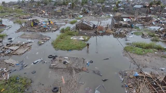 General view of damage after cyclone swept through Beira
