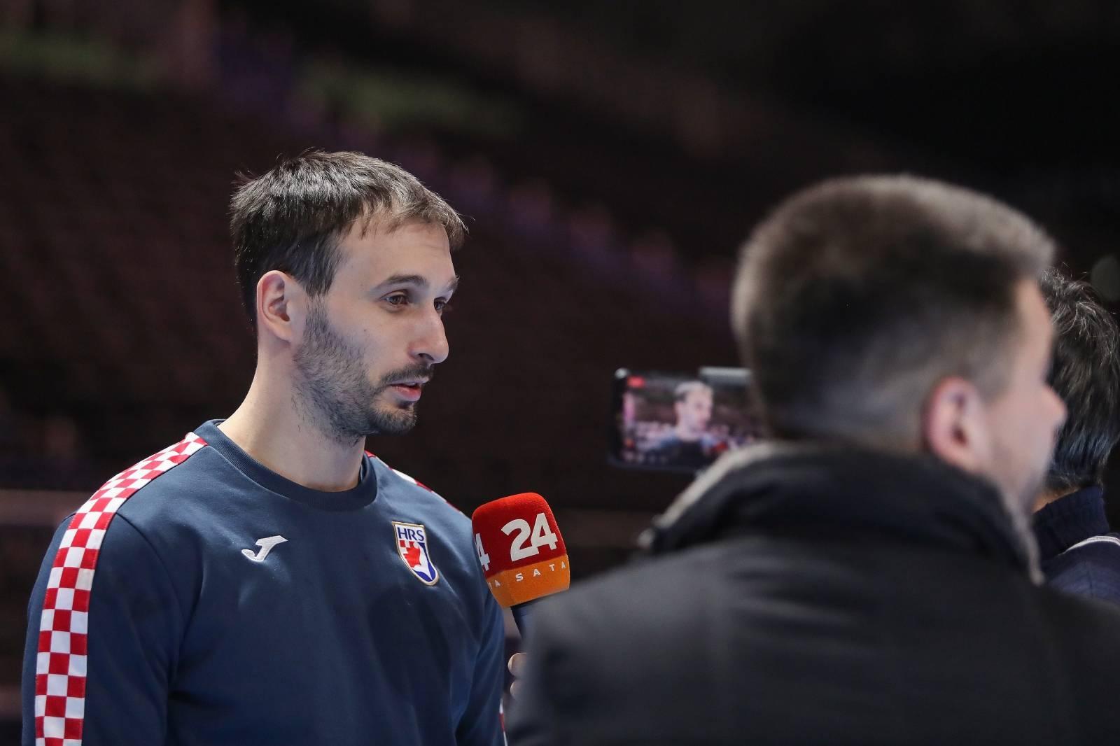 Stockholm: Hrvatski rukometaši odradili trening i dali izjave za medije uoči finala EP