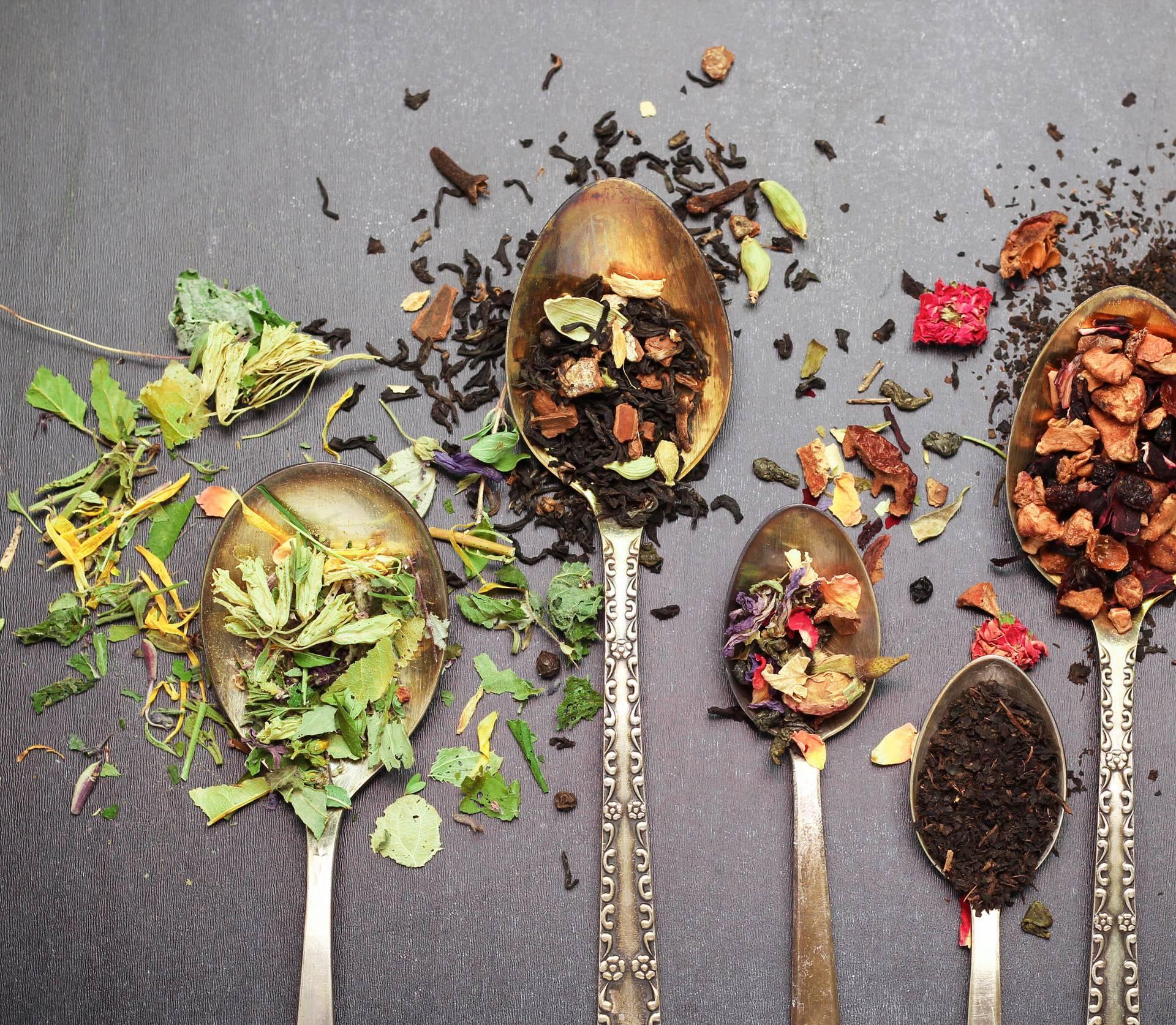 Herbal and masala tea on a black chalkboard