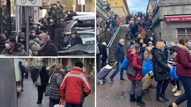 Policija na Trgu, kaos na Dolcu: 'Ovdje ko da je rat, nikad nisam vidio veći red za ribarnicu'