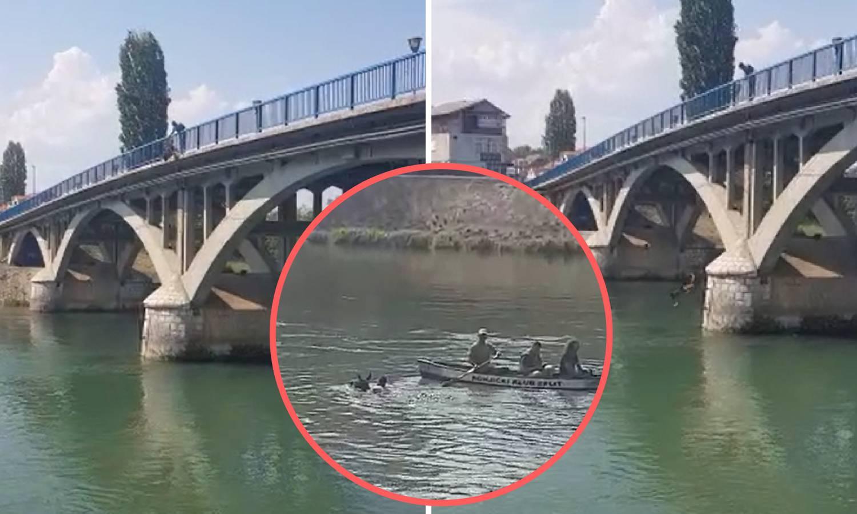 Ovo nije humano: Psa je bacio u rijeku Cetinu s mosta u Trilju