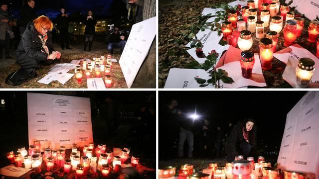Paljenje svijeća na Trgu Francuske republike