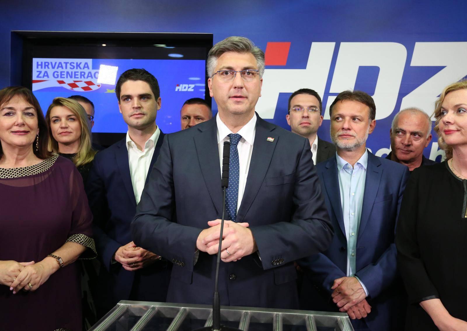 Zagreb: Andrej Plenković obratio se medijima nakon objave službenih rezultata EU izbora