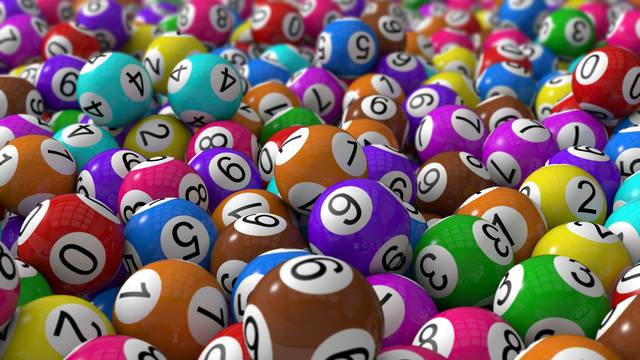 lottery balls with depth of field