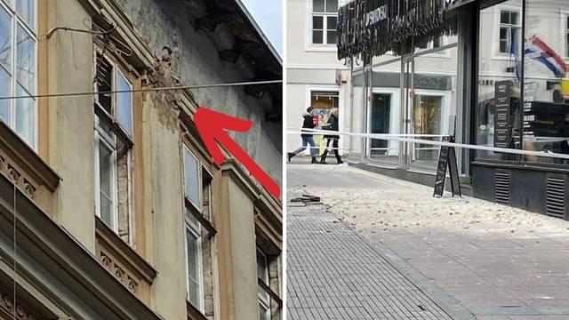 Na Ilici se srušili komadi zgrade: 'Cigle su pale blizu dvije cure'