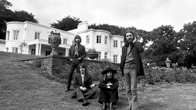 Members of the Beatles pose in Tittenhurst